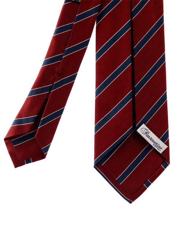 cravatta regimental tre pieghe in pura seta