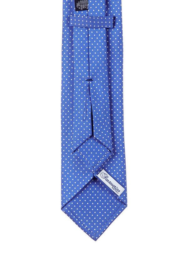 Cravatta sette pieghe a Pois