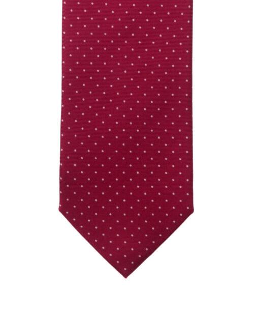 Cravatta tre pieghe a pois