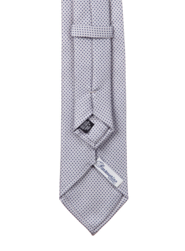 Cravatta tre pieghe a pois Sanseverino Napoli